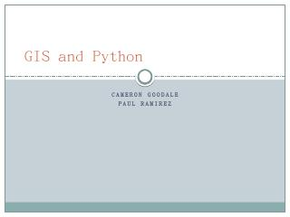 GIS and Python - ESIP Wiki