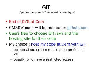 GIT - Indico