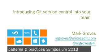 Git is SUPER cool - Microsoft Developer Network