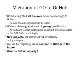 GO on GitHub - Gene Ontology Consortium