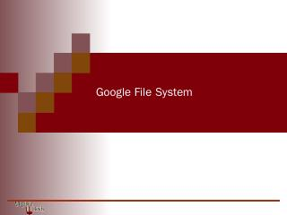 Google File System - CS Courses