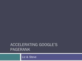 Googles PageRank - Missouri State University