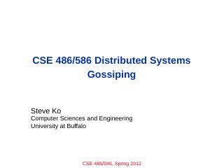 Gossip - Department of Computer Science and E...