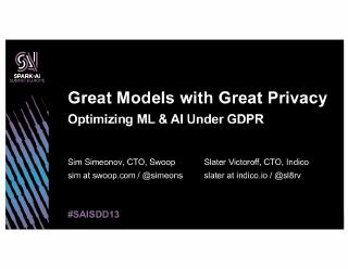 great models with great privacy optimizing ml...