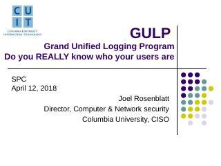 GULP Grand Unified Logging Program - Events -...