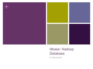 Hbase: Hadoop Database