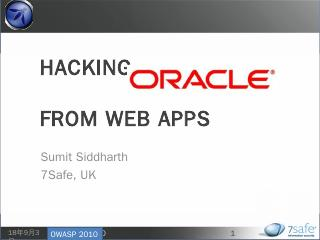 Hacking Oracle From Web Apps