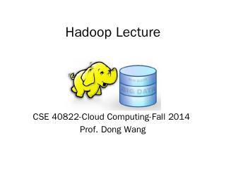 Hadoop Lecture