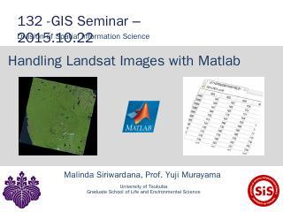 Handling Landsat Images with Matlab