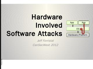Hardware Involved Software Attacks - CanSecWest