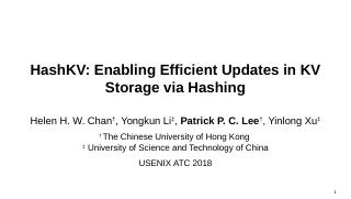 HashKV: Enabling Efficient Updates in KV Stor...