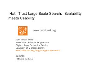 HathiTrust Large Scale Search: Scalability me...