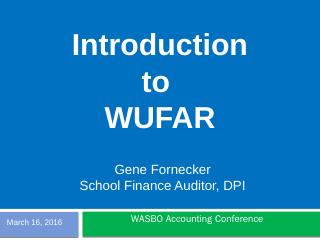 Having Fun with WUFAR - Wisconsin Department ...