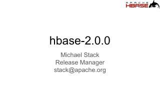 HBase 2.0 介绍