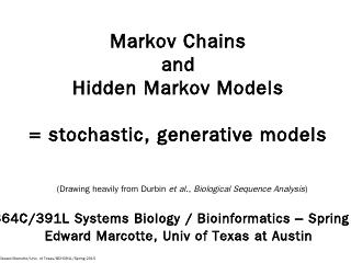 hidden Markov model - Marcotte Lab