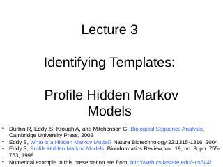 Hidden Markov Models - Ron Levy Group