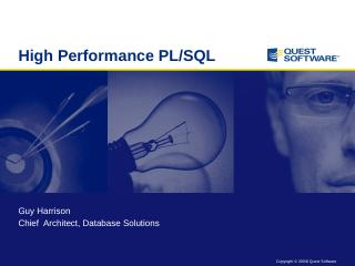 High Performance PL/SQL - nzoug
