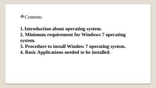 How to Install Windows 7 operating system ste...