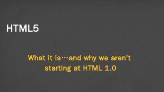HTML5 - Colleen van Lent - University of Mich...