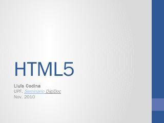 HTML5 - Lluís Codina