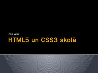 HTML5 un CSS3 skol - Start IT