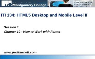 HTML for Form - ProfBurnett.com