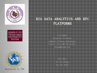 Huang Lei: Big Data Analytics and HPC Platforms