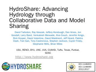 HydroShare - David Tarboton