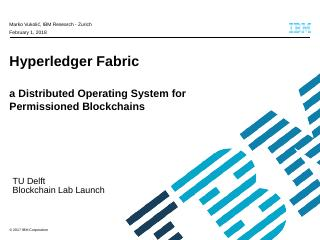 Hyperledger Fabric v1 approach - cloudfront.net