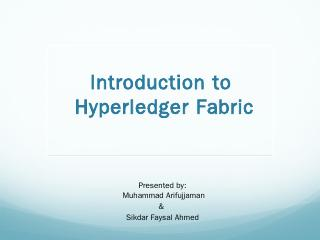 Hyperledger Fabric - W3Engineers.com