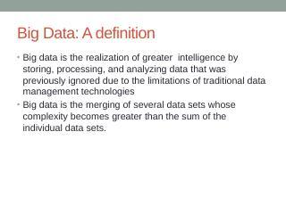 IBM Big Data Platform Overview