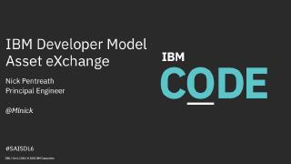 ibm developer model asset exchange