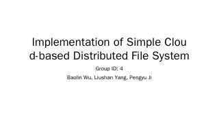 Implementation of Simple Cloud-based Distribu...