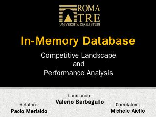 In-Memory Database - Valerio Barbagallo