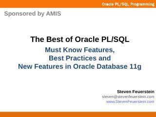in PL/SQL - DOAG