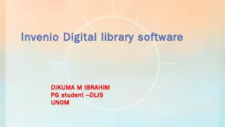 Invenio DL software - WordPress.com