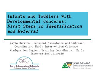 Infants and Toddlers with Developmental Conce...