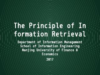 """information retrieval"" and"
