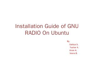 Installation Guide of GNU RADIO On Ubuntu - W...