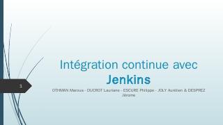 Intégration continue ...