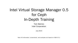 Intel Virtual Storage Manager 0.5 for Ceph