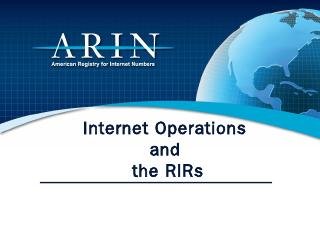 Internet Protocol (IP) address - ARIN