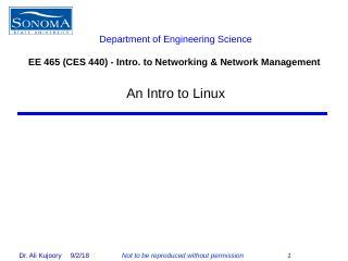 Intro to Linux - Sonoma State University