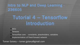 Intro to NLP and Deep Learning - 236605 - Web...