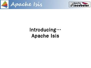 Introducing Apache Isis