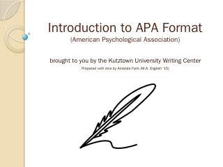 Introduction to APA Format - Kutztown Univers...