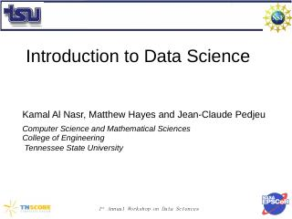 Introduction to Data Science - Tennessee Stat...