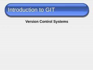 Introduction To GIT - Kenyon CS