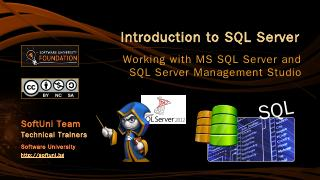 Introduction to MSSQL Server - SoftUni