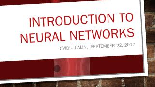 Introduction to Neural Networks - Why Machine...
